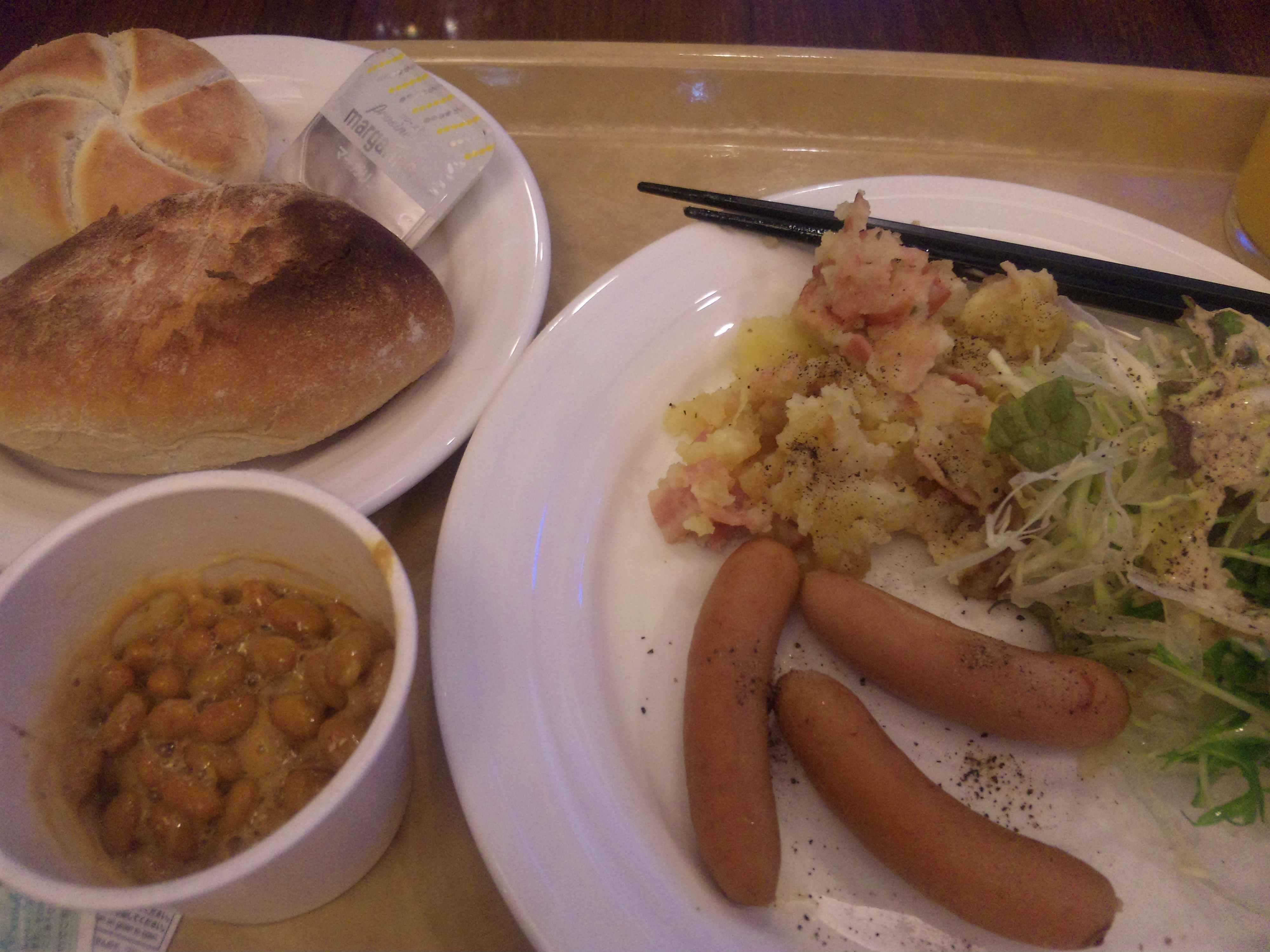 ルートイン徳山の朝食